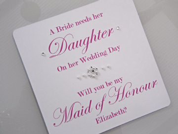 Will You Be My Maid of Honour - card